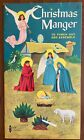 1959 Christmas Manger Punch Out Book Nativity Scene Unused VG