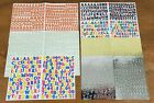Creative Memories Mini ABC 123 Lot of 7 Sheets Letters  Numbers Sassy  Classy