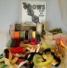 Mixed Lot Ribbon Scraps  Bolts Some Vtg Grosgrain Bows How To Scrapbook Craft