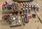 Huge Glitter And Bead Lot Martha Stewart Sticklers Pink Paisley Used