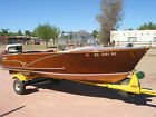 1957 Wagemaker Wolverine 15 antique Wood Boat with Evinrude 35 Hp outboard