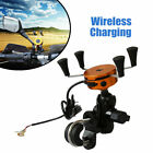 2 in 1 Waterproof Motorcycle Phone Mount Wireless Fast Charger Bike Phone Holder