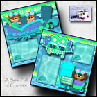 POOL PARTY 2 premade scrapbook pages boy girl SWIM printed layout CHERRY 0156