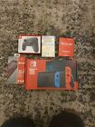 Nintendo Switch with NEON Blue and Red JoyCon 32GB BUNDLE SHIPS TODAY