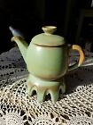 Frankoma Pottery Plainsman Green Carafe And Stand