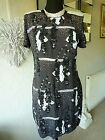 FRENCH CONNECTION CHARCOAL GREY WISTERIA SEQUIN PARTY COCKTAIL DRESS SIZE 14