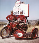 Moto Guzzi Falcone Dondolino engine Sidecar MiTa 1954 motorcycle photo press
