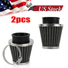 2 Scooter 42mm Air Filter Cleaner For Gy6 150cc ATV Quad 4 Wheeler Go Kart Buggy