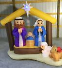 7ft Gemmy Airblown Inflatable Prototype Christmas Kaleidoscope Nativity 11890