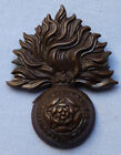 BRITISH WW1 ARMY OFFICER'S ROYAL FUSILIERS BRONZE CAP BADGE