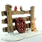 Lemax 2014 Rustic Wood Fence Coventry Cove #44760 Retired Rare Village Accessory