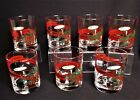 7 Mid Century Georges Briard Christmas Double Old Fashioned Glasses -