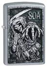 Zippo Sons Of Anarchy Grim Reaper Lighter, SOA, 49004, New In Box