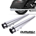 4 Megaphone Exhaust Pipes Mufflers For Harley Touring FLHT FLHR FLHX 95 16