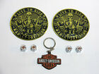 Harley Single Sided Key Chain Willie G Valve Cap Combo W 2 LIVE TO RIDE Emblems