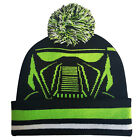 NEW Star Wars Rogue One Death Trooper Knit Pom Beanie Black/Green/White One Size
