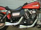 Harley Dyna chrome racing exhaust lightly used 3000 miles