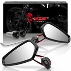 Red 7 8 Motorcycle Handle Bar End Rearview Side Mirrors For Yamaha Honda Suzuki
