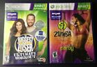 Xbox 360 Kinect 2 Games The Biggest Loser Ultimate Workout Zumba Fitness FREE SH