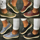 Nis Women Loafers Lazy Slip On Boat Shoes Flat Sport Sneaker Elastic Band Casual