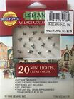 Lemax ~ Village Collection ~ 20 Mini Lights, WHITE/Clear Lights-Item 64128
