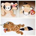 "Ty Beanie Baby RINGO the Raccoon DOB July 14 1995 - Retired 1998 12"" long"