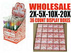Wholesale 36pcs Boxes of Love Roses Glass Tube With Plastic Flower Display Pack