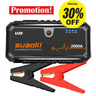 Suaoki U28 2000A Jump Starter Pack USB Power Bank Smart Battery for 12V Car