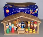 2008 Nativity Scene Made By The Toy Workshop UK 100 Complete Wood Christmas Set