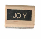 PrintWorks Rubber Stamp Joy Word Holidays Christmas Card Making Craft Small