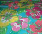 LILLY PULITZER FABRICTROPICAL BIG FLIRTFLORALBLUE YELLOW GREEN PINK17 X 17