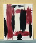 Red Black Cream Color Acrylic Abstract Painting 16 x 20