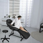 Adjustable Tattoo Massage Bed Facial Beauty Barber Chair w Hydraulic Stool Black