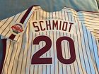 Mike Schmidt Philadelphia Phillies Authentic Rawlings Home White Jersey Size 48