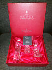 Waterford Crystal 3 Piece Christmas Nativity Set In Original Box