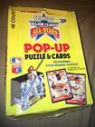 1988 DONRUSS POP-UP PUZZLE AND CARDS UNOPENED BOX Of 46 Packs STAN MUSIAL PUZZLE