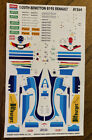 ACADEMY DECAL & INSTRUCTION SHEET #1564 1/20TH BENETTON B195 RENAULT