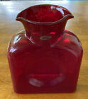 Blenko Glass Water Bottle Ruby Red 384