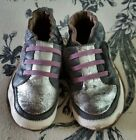 Robeez Baby Leather Soft Moccasins Shoes Gray Sneakers Sz12 18 Months