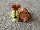 Rare Cute Paws Garfield Cat And Odie Dog Salt And Pepper Shakers Magnetic