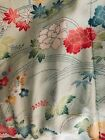 Authentic Kimono mint green  pink floral silk