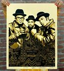 Run DMC Raising Hell Print Poster Shepard Fairey Obey Giant Gold Edition