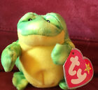 TY BEANIE BABY -  JUMPS (FROG) with tag, Teenie, McDonald's Happy Meal Toy, 2009