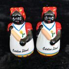 Black Americana Lady Red Dress Turban White Apron Salt And Pepper Shakers Kistch