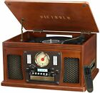 Victrola Wood 8 in 1 Nostalgic Bluetooth Record Player with USB Encoding and