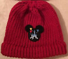 Handmade Beanie with Mickey Mouse Disney Castle with Balloons