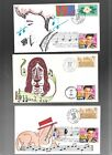 US FDC FIRST DAY COVERS ELVIS PRESLEY 1993 HAND PAINTED LOT OF 3 DIFFERENT
