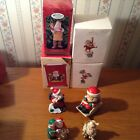 Lot of 8 Santa Claus St. Nick Kris Kringle Ornaments and Figurines Most Hallmark