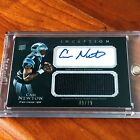 2011 Topps Inception Cam Newton Autograph Jersey Rookie Card RC Auto Pats! 75!!