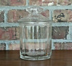Vintage Apothecary Pharmacy Heavy Clear Glass Drug Store Candy Canister Jar
